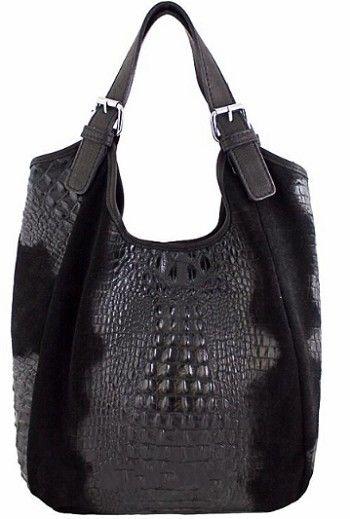black crocodile purse
