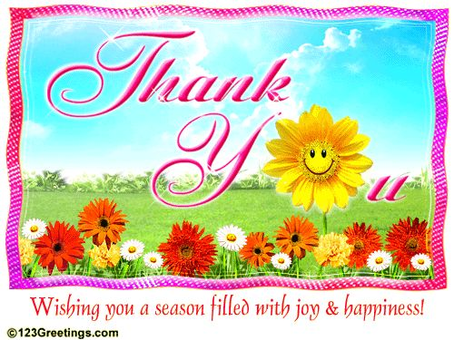 Thank You Free Thank You eCards Greeting Cards – 123 Greetings Animated Birthday Cards