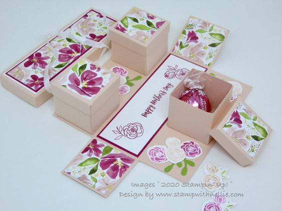 A Box With 3 Boxes Inspireink Blog Hop Tutorial In 2020 Mother S Day Diy Blog Hop Diy Father S Day Gifts