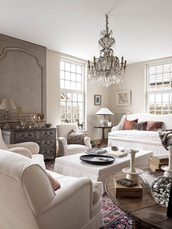 Living Rooms Chandeliers And Gray Interior On Pinterest
