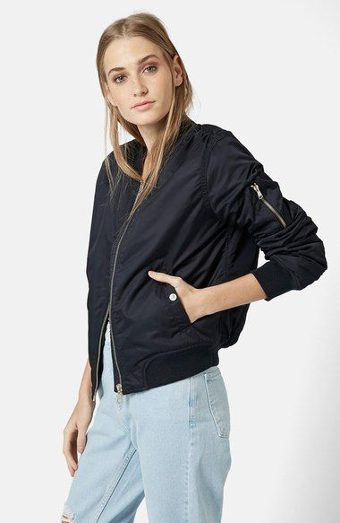 Topshop 'Florris MA1' Bomber Jacket available at #Nordstrom