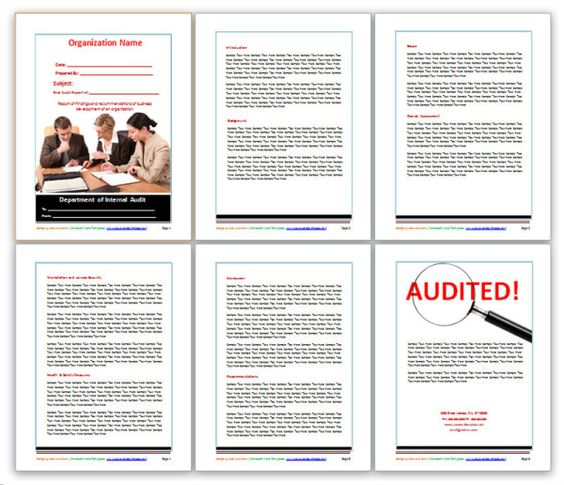 Audit Report Example, Audit Report Formats, Audit Report Template - audit report template word