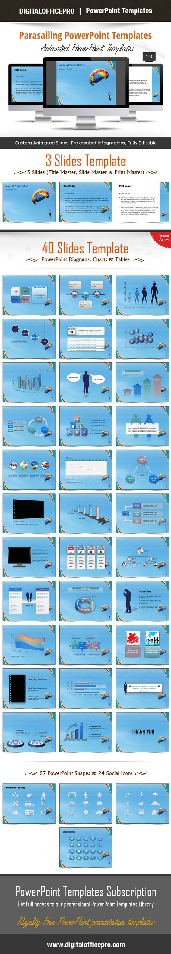 Parasailing powerpoint template backgrounds parasailing and template toneelgroepblik Image collections