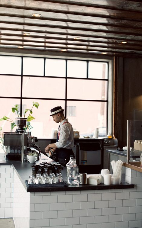 Handsome Coffee Roastersin downtown Los Angeles is certainly for the serious {yet playful} coffee drinker. There areno lattes, teas, or other non-coffee items, but they do have morning treats from Proof, which is my favorite bakery in LA