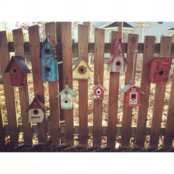 Things are getting crafty at my house. All birdhouses are from Hobby Lobby.