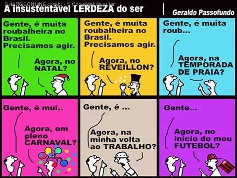 Ninguém quer dar o real valor à Profunda Crise política, econômica e social, que alastra cada vez mais neste Brasil.... Até mostram receio de falar da corrupção, que está instalada nos políticos de toda esta grande Nação.