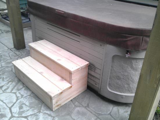 How To Build Hot Tub Steps A Step By Step Guide Inflatable Hot Tubs Hot Tub Steps Hot Tub Accessories