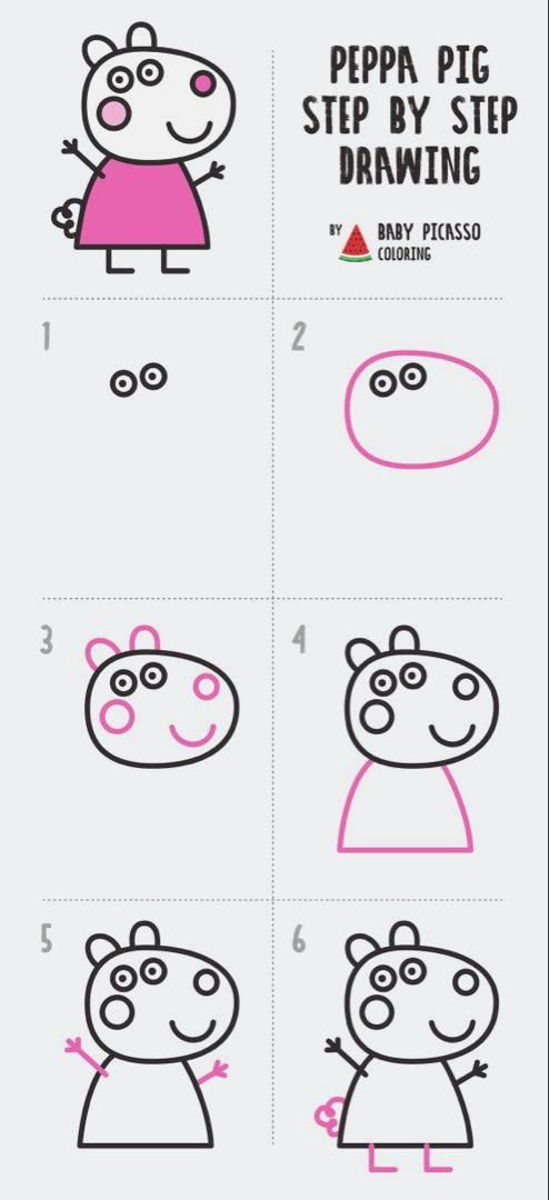 How To Draw Suzy Sheep Peppa Pig Drawing And Coloring Pages In 2020 Peppa Pig Drawing Peppa Pig Pig Drawing