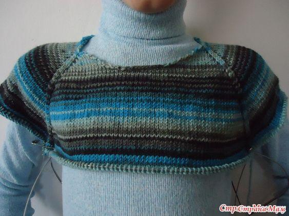 Связать реглан свитер