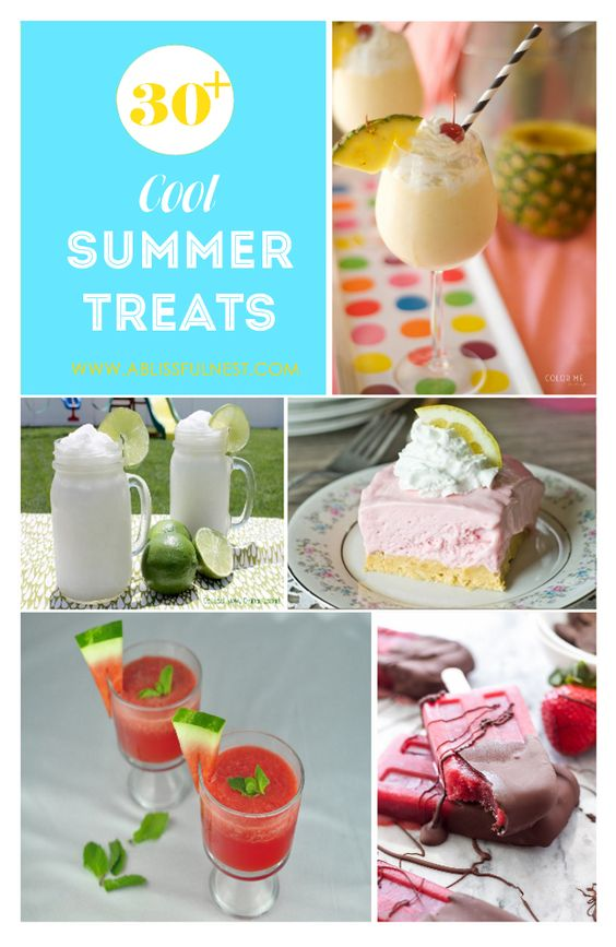 30 + Cool Summer Treats via A Blissful Nest