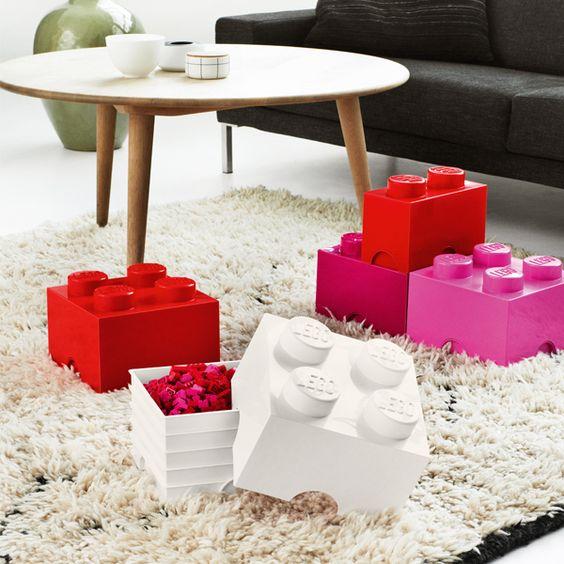 Room Copenhagen Lego Storage Brick 4, medium pink | Storage | Decoration | Finnish Design Shop