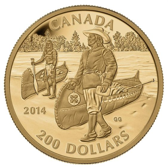 $200 2014 Pure Gold Coin Great Canadian Explorers Series: Samuel de Champlain