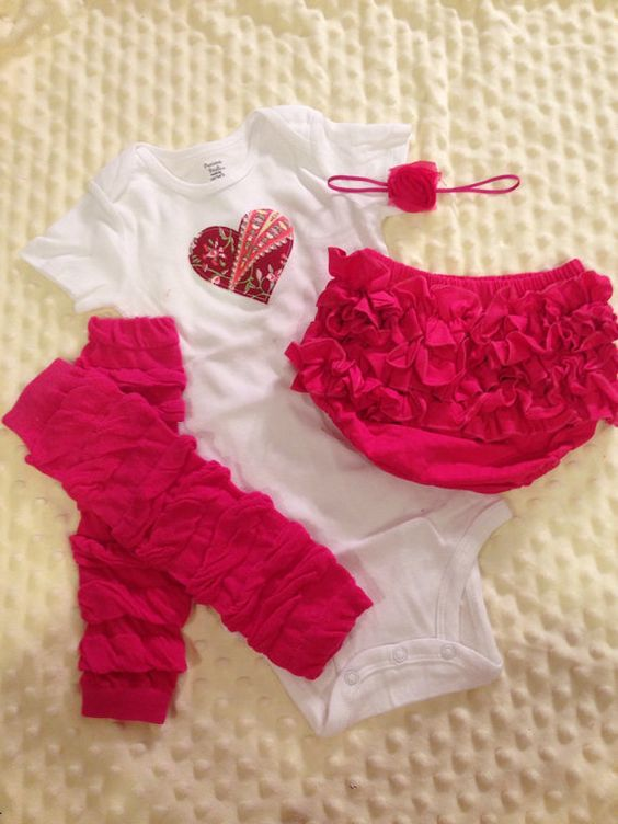 Baby girl valentines outfit size 18 months by