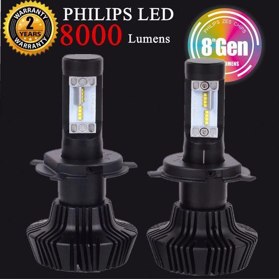 jdm astar 8000lm 8th gen led headlights kits 9006 9005 h4. Black Bedroom Furniture Sets. Home Design Ideas