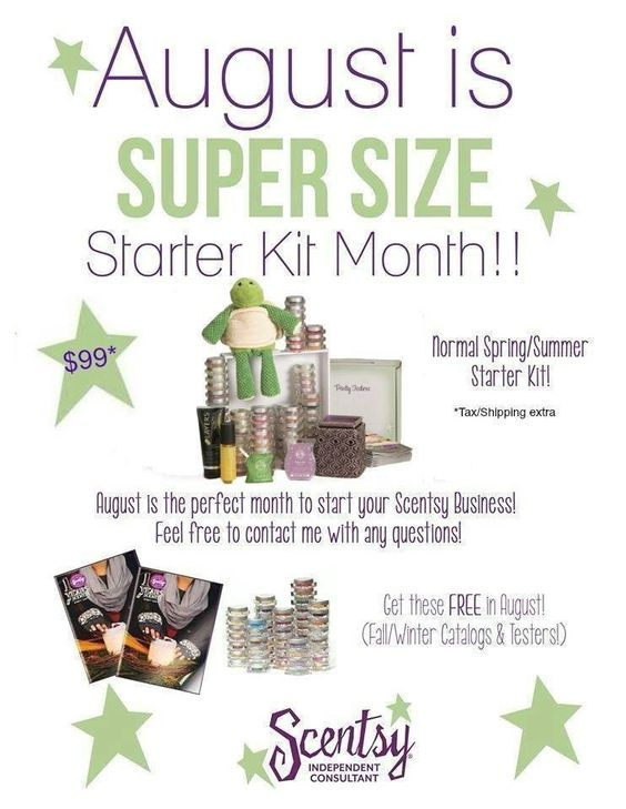 You have seen my posts. You have thought about it but NOW is the best time to join. You will reap the rewards of Holiday sales, you will receive a kit that contains the summer/winter supplies, as well as the new fall/winter supplies Join Scentsy and become a better you! It sounds like a cliche but $99 truly does change your life. Let me help you start your very own business and support you at very turn.  https://aprilherman.scentsy.us/Enrollment/Join