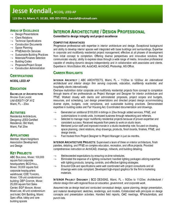 resume  interior design resume and design resume on pinterest