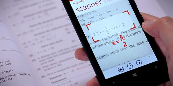 This Clever App Scans And Solves Math Problems Instantly Using Your Phone's Camera  Read more: http://www.businessinsider.com/photomath-app-solves-math-problems-using-phones-camera-2014-10#ixzz3H49jhTf8 - It even shows the steps to solve it, too.