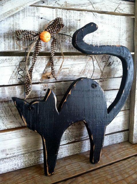 rustichalloweenblackboocatspookyhomebysopurdycreations1600 halloween pinterest rustic halloween cat and black - Rustic Halloween Decorations