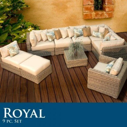 Royal 9 Piece Outdoor Wicker Patio Set 09e By Tk Clics 3210 00 Ultra Deep