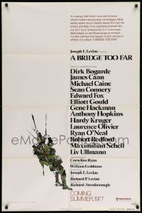 9y113 BRIDGE TOO FAR advance 1sh '77 Michael Caine, Connery, cool art of…
