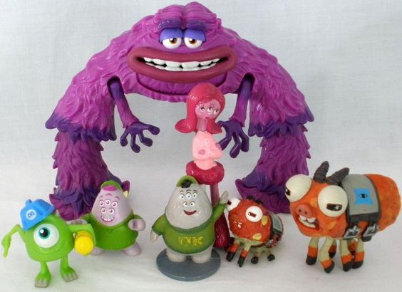 7 Disney Pixar Monsters University PVC Figures Mike-Squishy-Art-Carrie-Mascot #Disney