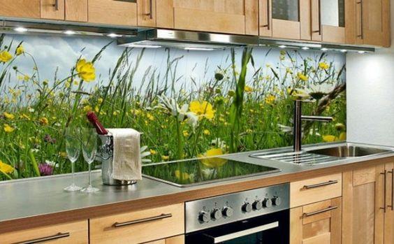 Wandpaneele Küche u2013 neues Design für die Küchenrückwand Chalet - spritzschutz küche glas