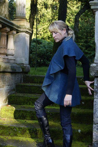 *Designer* Jacke EINZELSTÜCK Schalkleid - Poncho von Maßanfertigung von individuellen Einzelstücken Mittelalterkleider und individuelle Kleider auf DaWanda.com