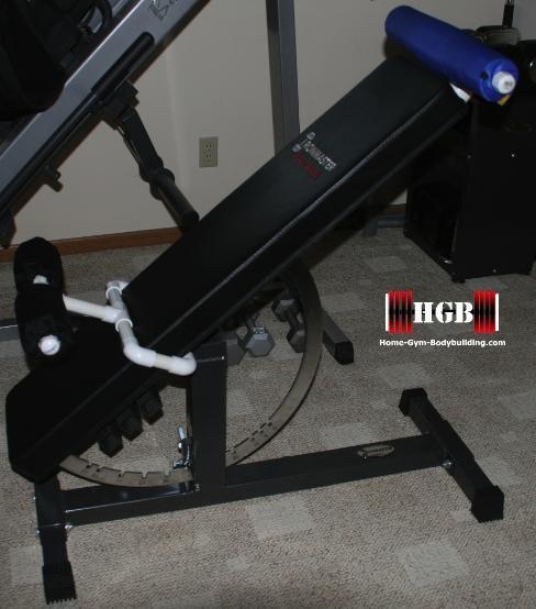 homemade hyperextension bench using pvc fittings convert