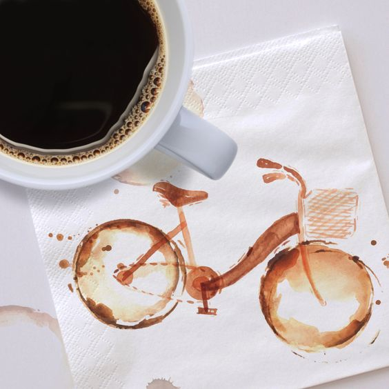 We love this bicycle coffee art! Enjoy a cup of Keurig Brewed beverage while exploring your creativity.