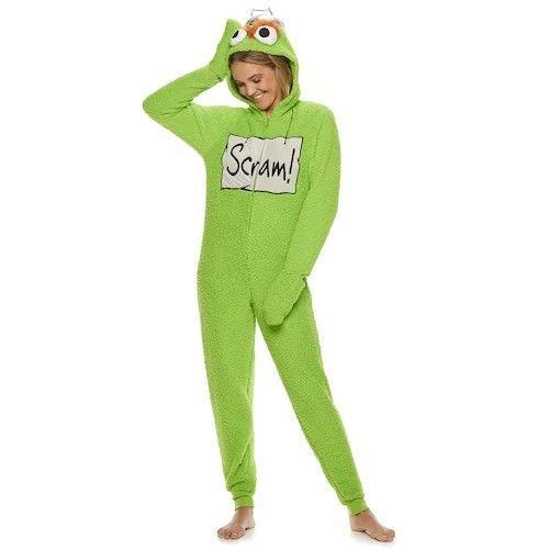 Women S Sesame Street Oscar The Grouch Sherpa One Piece