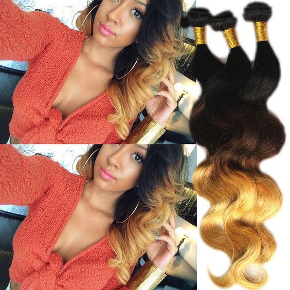 New Style 1-3Bundles Ombre Human Hair Body Wave,1b33#27# ,100g/Bundles DE Hot