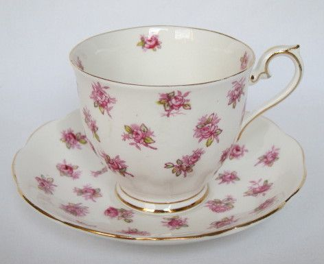 Royal Albert Tea Cup & Saucer with Pink Rose Buds