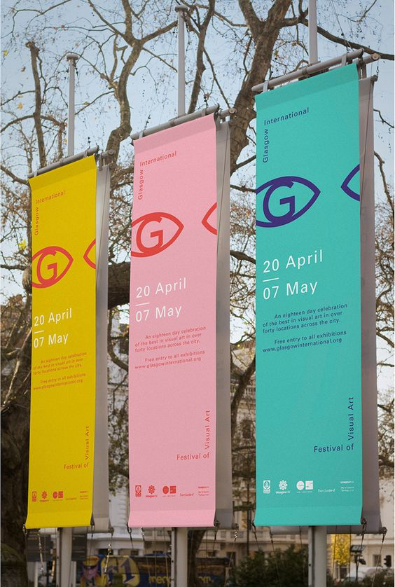 Glasgow International Festival of Visual Art Branding. Lovely Colour.: