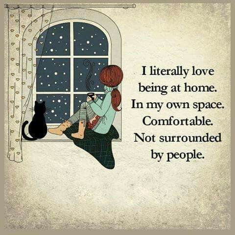 Or with a few people I am really close to..and of course, my cats