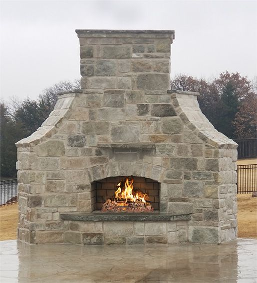 48 Contractor Series With Custom Hearth Winds Corbels And Chase Caps Outdoor Fireplace Fireplace Kits Majestic Fireplace