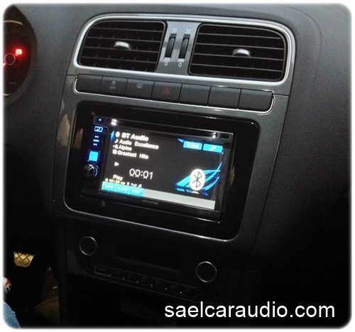 autoradio alpine ive w530bt installata su vw polo vwpolo. Black Bedroom Furniture Sets. Home Design Ideas