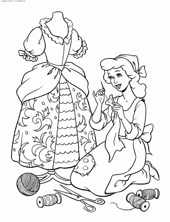 coloriage cendrillon—coloriage princesse disney cendrillon à