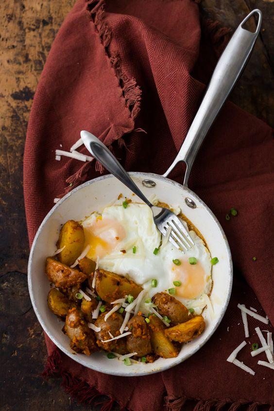 Halibut In Hazelnut Romesco With Potatoes Recipe — Dishmaps