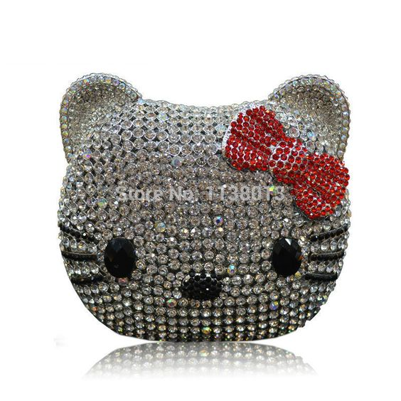 Find More Clutches Information about 2014 Womens Clutch Bags Luxury Cartoon Animal Cat Shape Black / Silver Crystal Designer Famous Brand Women Clutches Evening Bags,High Quality bag cap,China bag taiwan Suppliers, Cheap bag hunting from Kitty Supermarket on Aliexpress.com