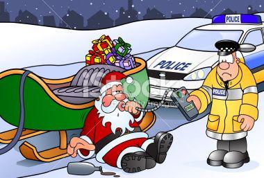 No l humour policier p re no l cartoon illustration vectorielle libre de droits humour - Sapin de noel humour ...