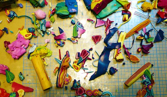Wondering what to do with all your polymer clay scraps? I never thought to sort them like this. It seems so obvious after reading Carol Simmons blog.