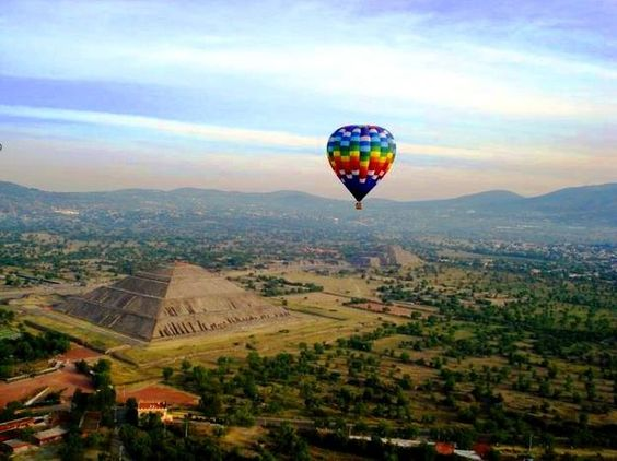 Vuelo en globo, Teotihuacan