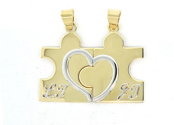 These puzzle piece pendants were made for a couple to celebrate their anniversary. They fit together perfectly just like this special couple.
