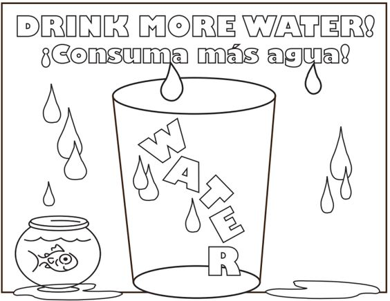 This DrinkMoreWater Coloring Page Is A Creative Way To Remind Your Kids The Importance Of