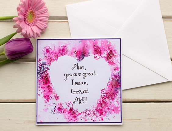 Handmade Funny Mother S Day Card Mum You Are Great I Mean Look