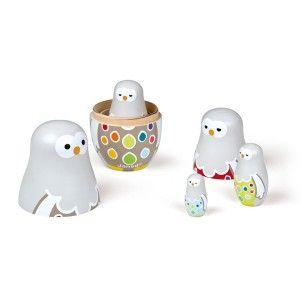 Owly family Zigolos - Hiboux gigognes Janod