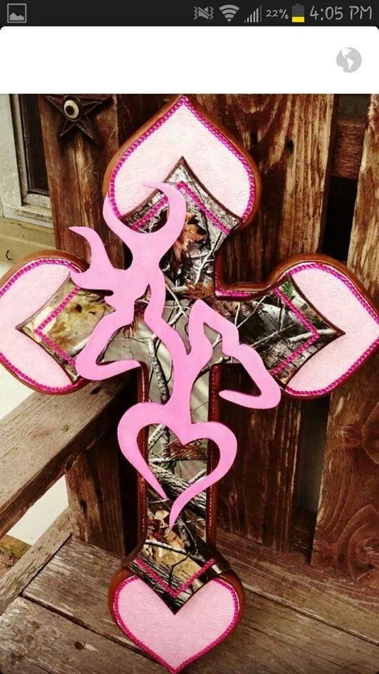 Pink camo browning cross
