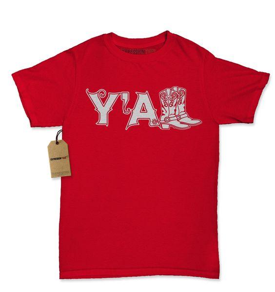 Y'All Cowboy Boots Womens T-shirt
