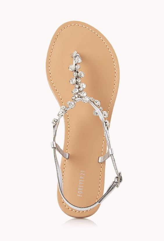 Inspirational Sandals Shiny Decoration