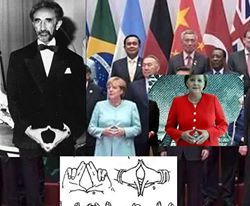 """The Occult Of The Freemason """"Sign Of  Pyramid Gesture among the Powerful """""""
